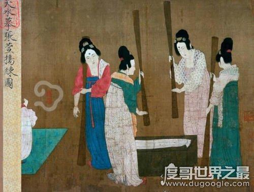 捣练图的作者是谁,唐代宫廷画家张萱(唐代仕女图代表作)