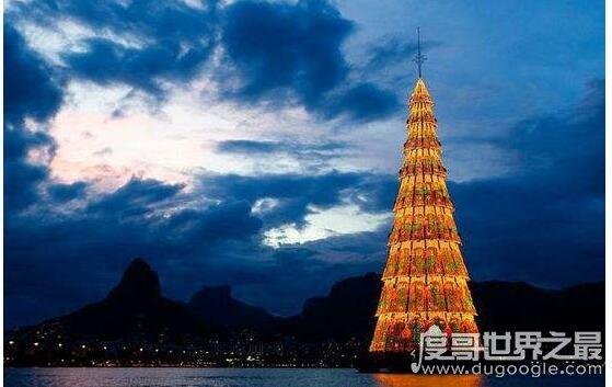 世界上最大的人工圣诞树,巴西圣诞树打破记录(高85米/重542吨)