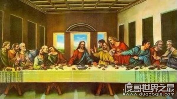 达芬奇最后的晚餐恐怖之处,多了一只拿匕首的手(意在刺杀彼得)