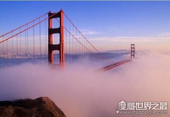 美国最长的桥,旧金山金门大桥总长度2737米(桥身1900米)