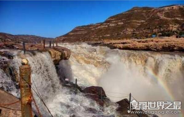 中国第二大瀑布壶口瀑布在哪,横跨陕西/山西(两省共有旅游景区)
