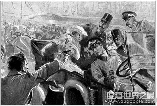 一战导火索萨拉热窝事件发生了什么事,斐迪南大公夫妇被枪杀