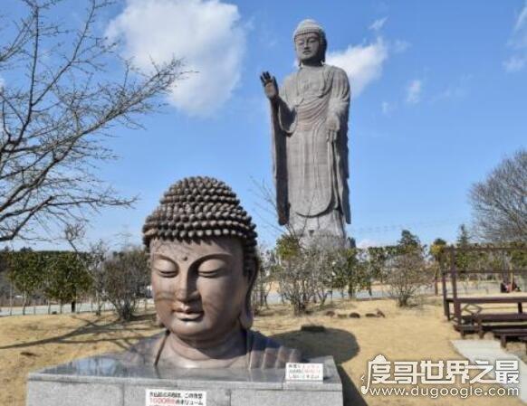 日本最高的佛像,牛久大佛通高120米(是世界第二高佛像)