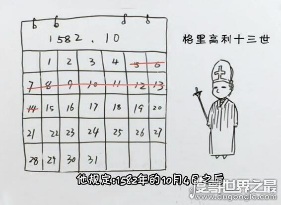 1582年为什么没有10月,不是没有十月而是十月被抹去了10天