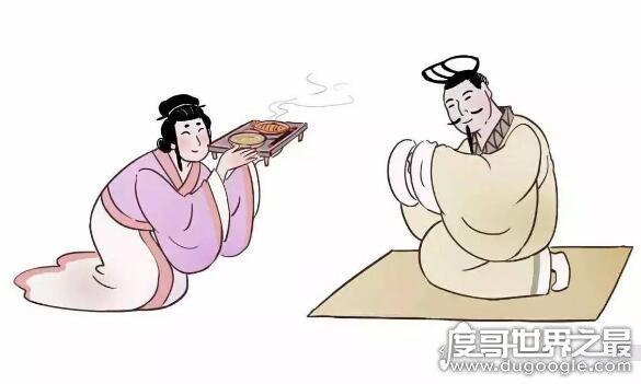 中华成语举案齐眉的典故,梁鸿以其贤德品行受到妻子高度敬爱