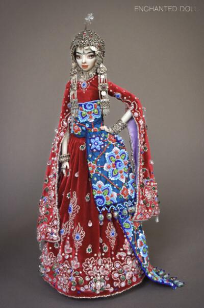 全世界最漂亮的娃娃,被赋予生命的和灵魂的艺术品(陶瓷制作)