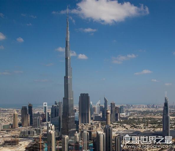 世界上最高的楼层排名,迪拜塔162层排第一(楼高828米)